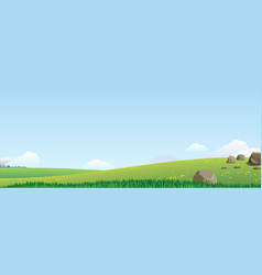 landscape with green hills vector image
