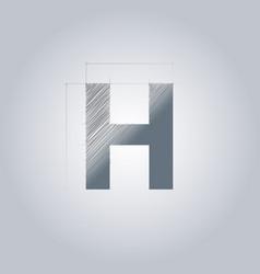 Letter h logo alphabet logotype architectural vector