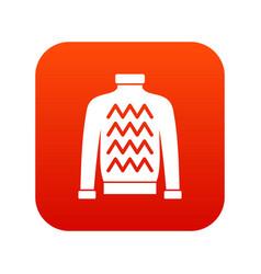 men sweater icon digital red vector image vector image