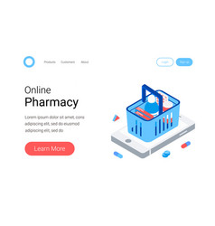modern pharmacy and drugstore concept vector image