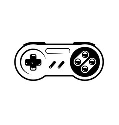 monochrome gamepad or game controller concept vector image