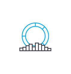 Multilateral analysis thin line stroke icon vector