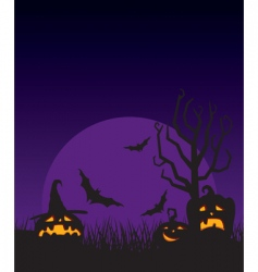 night halloween vector image