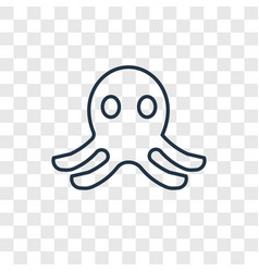 octopus toy concept linear icon isolated on vector image