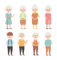 Old people group grandparents grandmothers vector