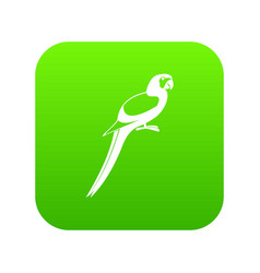 parrot icon digital green vector image