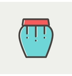 Percussion instrument thin line icon vector