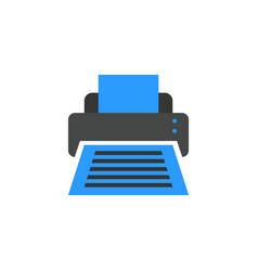 printer icon flat cartoon style vector image