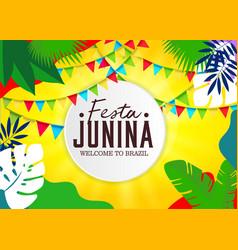 Printjune party festa junina with party flags vector