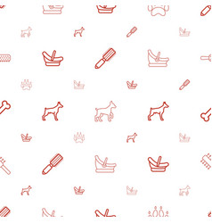 Puppy icons pattern seamless white background vector