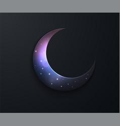 ramadan kareem effect cut paper night sky vector image