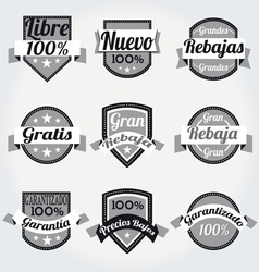 retro sales free labels vector image