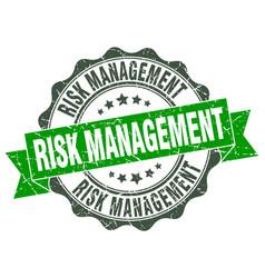 Risk management stamp sign seal vector