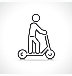 scooter or kick bike icon vector image
