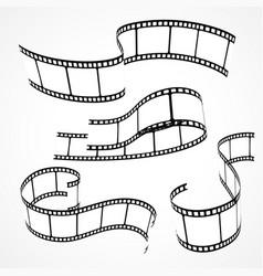 set of 3d film strips vector image