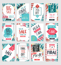 set of modern sale banners template design with vector image
