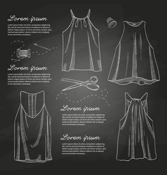 Set of woman casual clothes vector