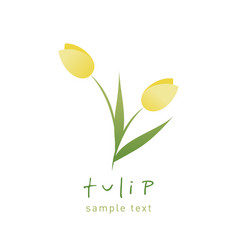 simple and stylized tulip flowers isolated on vector image