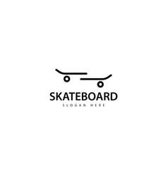 Skateboard logo design icon vector
