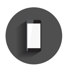 smartphone with white screen flat icon computer vector image