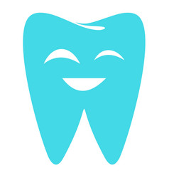 Sparkling tooth icon flat style vector