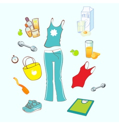 sport and healthy lifestyle vector image