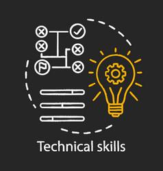 Technical skills chalk concept icon vector