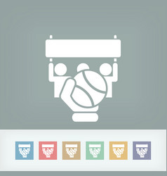 Tennis match icon vector
