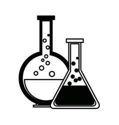 Test tube flask glass laboratory equipment school vector