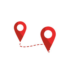 Track pointer gps map and navigation vector