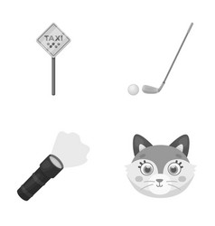 Transport lighting and other monochrome icon in vector