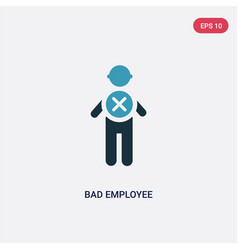 Two color bad employee icon from people concept vector