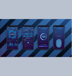 Ui ux and gui template layout for mobile app vector