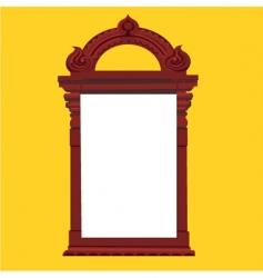 Vintage temple door vector