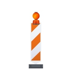 Warning Road Beacon vector image