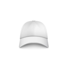 white cap mockup from front view - realistic vector image