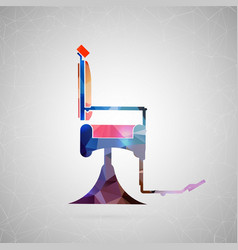 abstract creative concept icon of barber vector image vector image