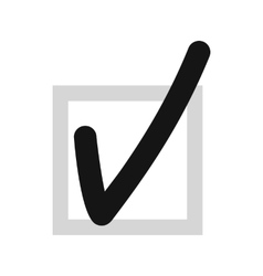 Checkmark in square icon flat style vector image