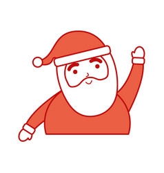 christmas happy santa claus character vector image