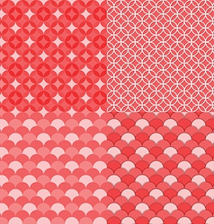 Circles geometric seamless pattern Abstract backg vector image vector image
