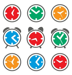 clock symbols vector image vector image