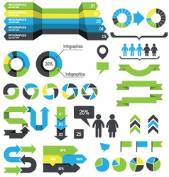 Infographics design elements and icons vector image