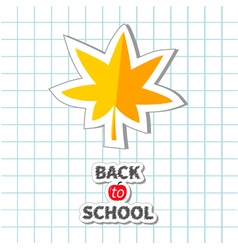 Maple leaf back to school exercise book paper vector image