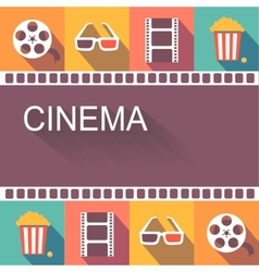 Movie cinema poster and design elements vector image