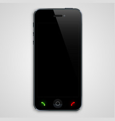 phone with a black screen vector image