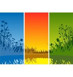 Small Lake and Grass vector image vector image