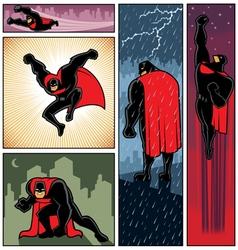 Superhero Banners 6 vector image vector image