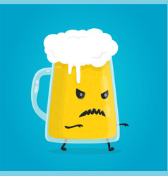zombie glass of beer angry evil alcohol vector image