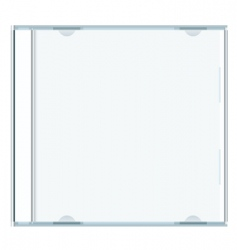 blank cd case vector image