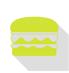 burger simple sign pear icon with flat style vector image